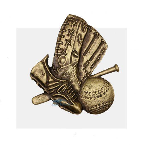 Ornament for urn baseball player