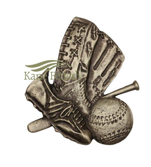 A0367 Baseball - ornement en métal pour urne