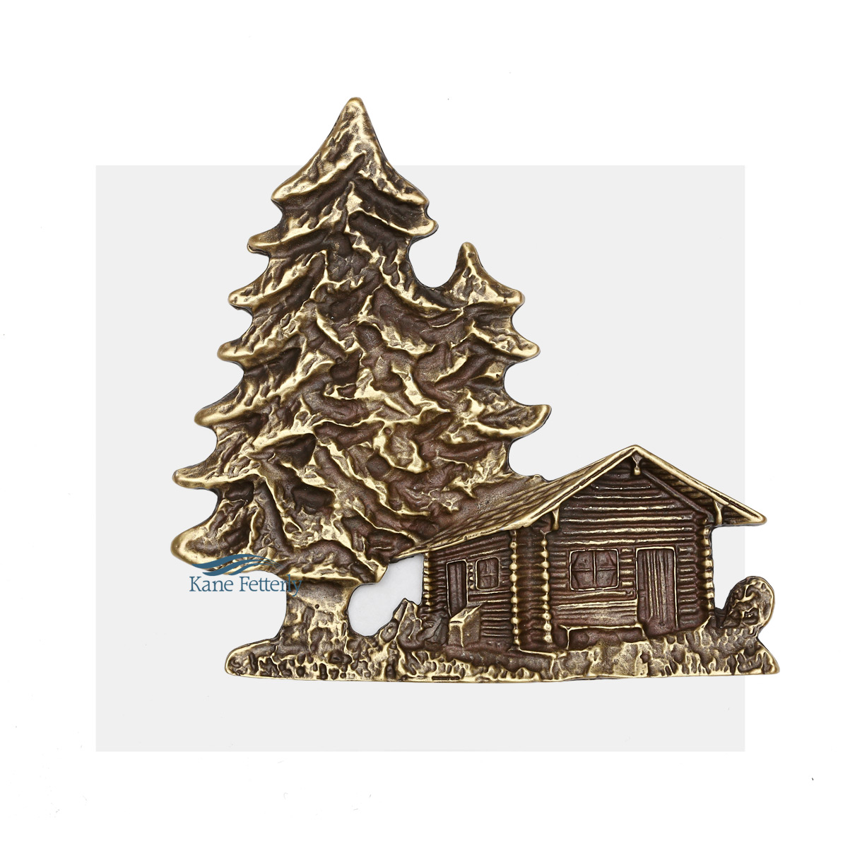 A0369 Log House - ornament for urn