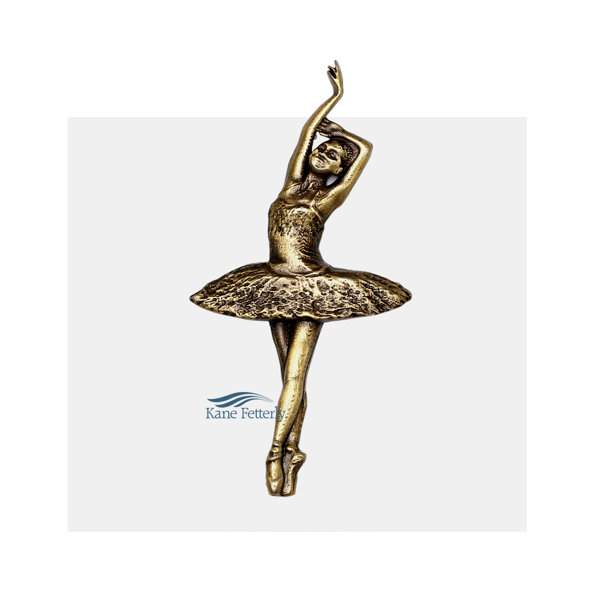 Ballerina - metal ornament for urn