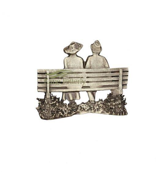 A0421 Banc d'amoureaux - ornement pour urne