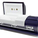 Blue steel casket