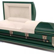 Cercueil en acier vert