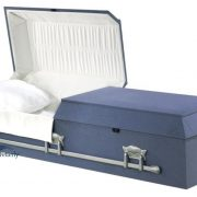 Cloth-covered casket