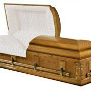 Cercueil en frêne, fini reluisant