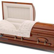Solid cherry casket