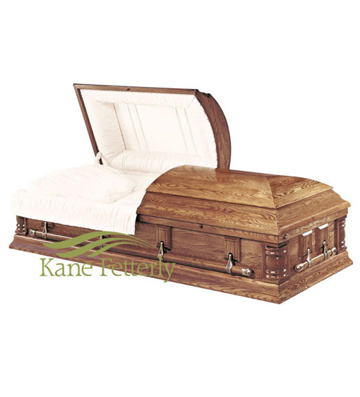 C7030 Solid oak casket