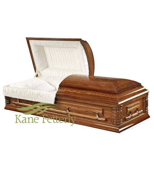 C7032 Solid oak casket