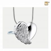 Angel wing cremation pendant