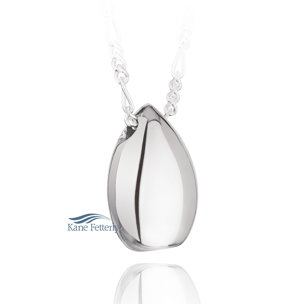 J0080 Teardrop pendant in sterling silver