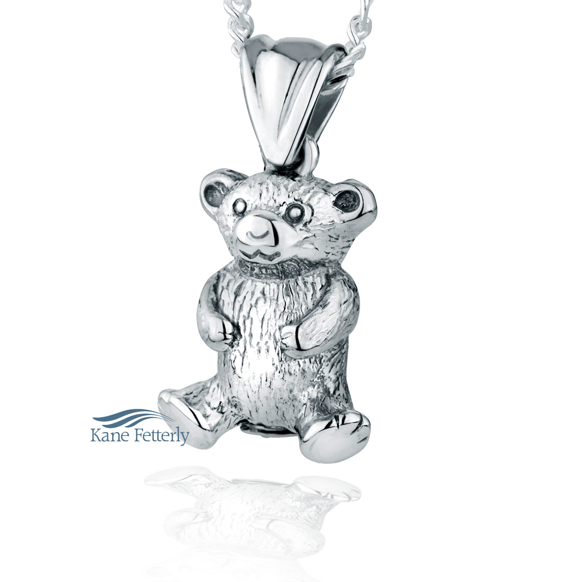 J0109 Teddy Bear pendant in sterling silver