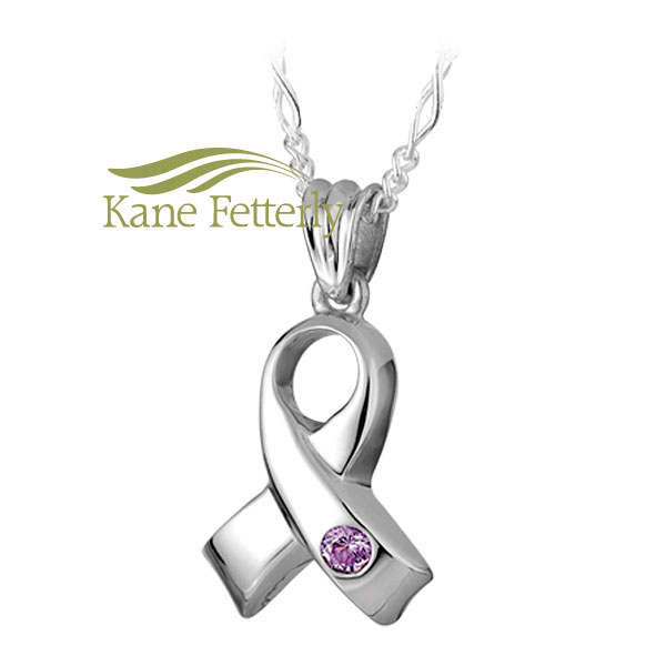 J0127 Ribbon pendant in sterling silver