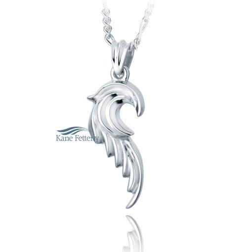 J0130 Angel Wing - sterling silver pendant
