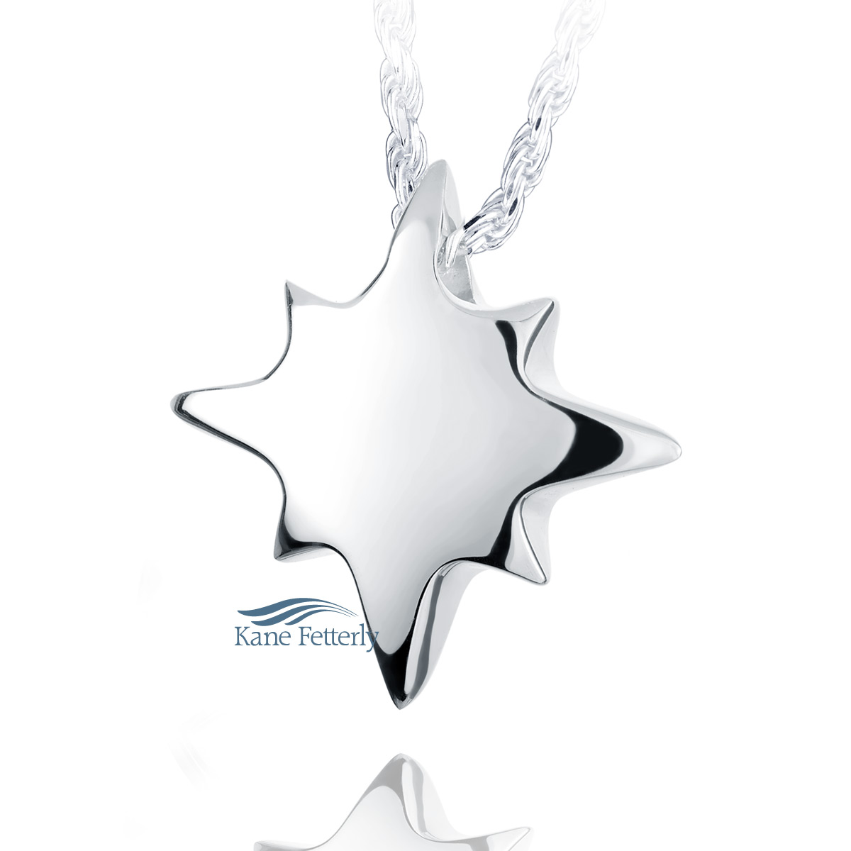 J0138 Star pendant in sterling silver