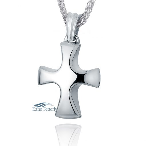 Tribal Cross - sterling silver pendant for ashes