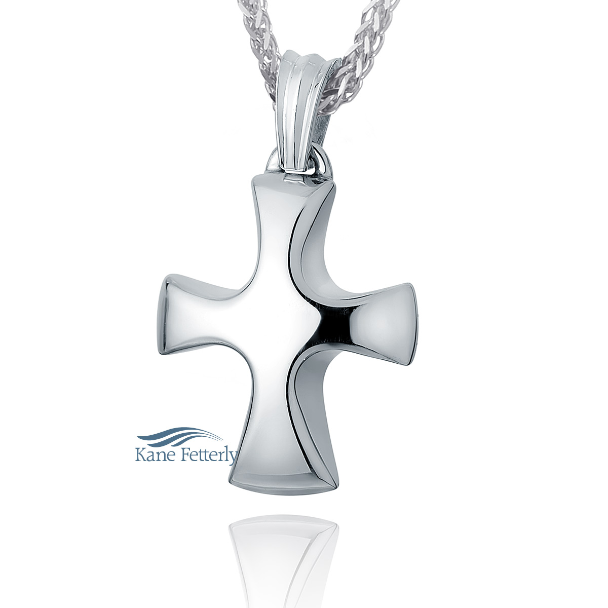 J0163 Cross pendant in sterling silver