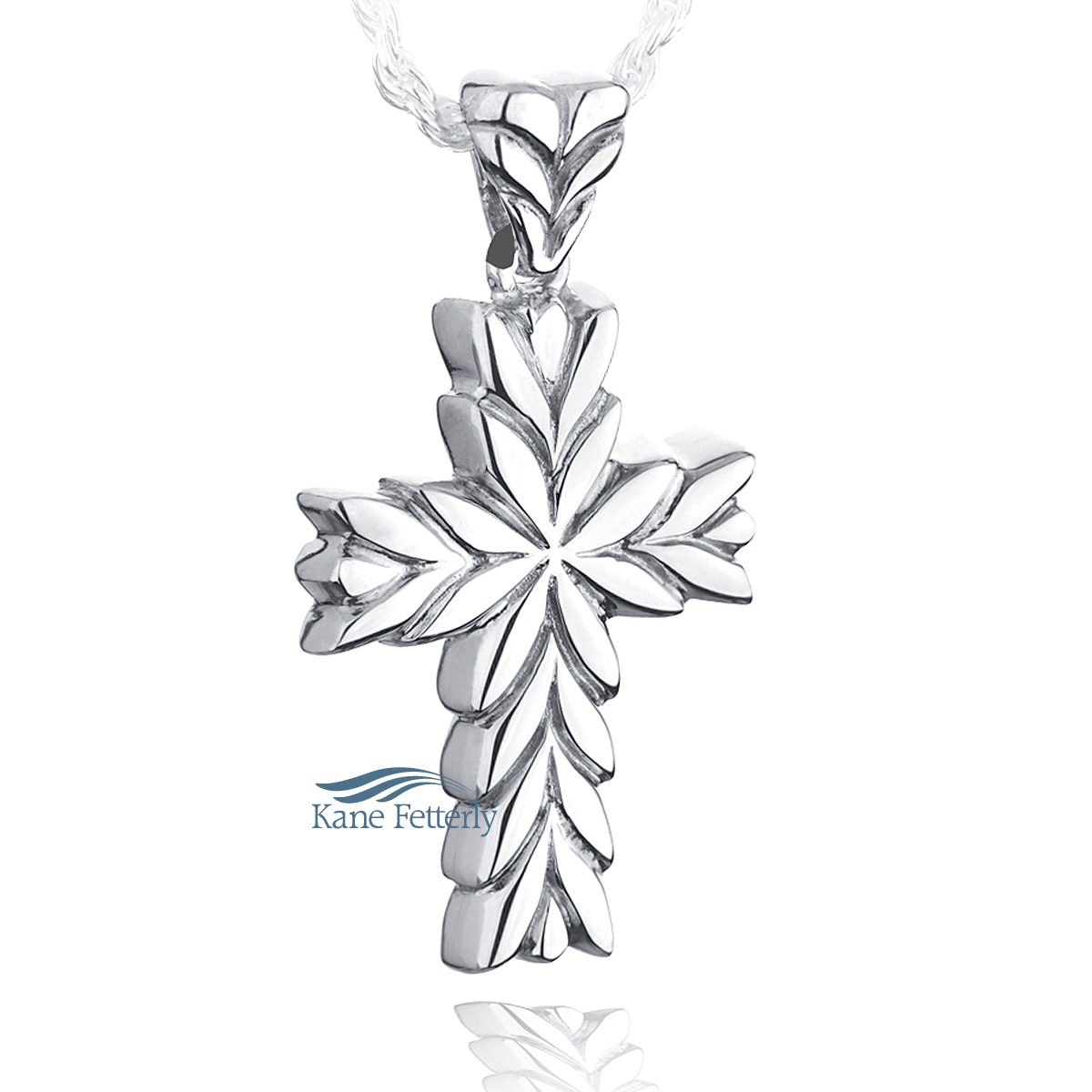 J0177 Cross pendant in sterling silver