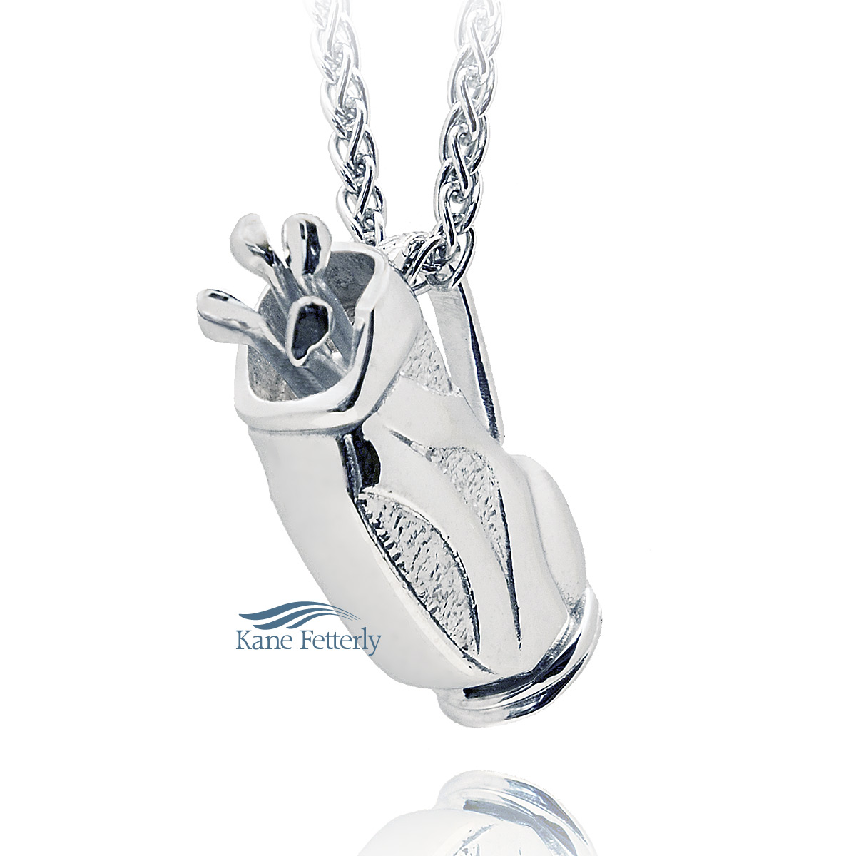 J0183 Golf bag pendant in sterling silver