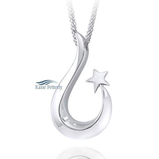 Shooting Star - cremation pendant