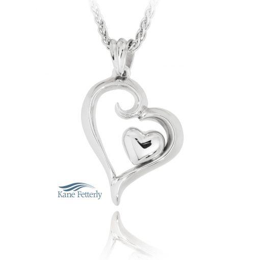 Coeur dans un coeur - pendentif pour cendres