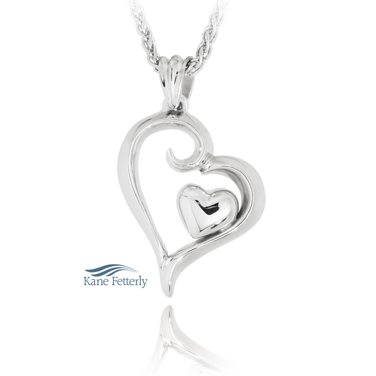 J0215 Heart pendant in sterling silver