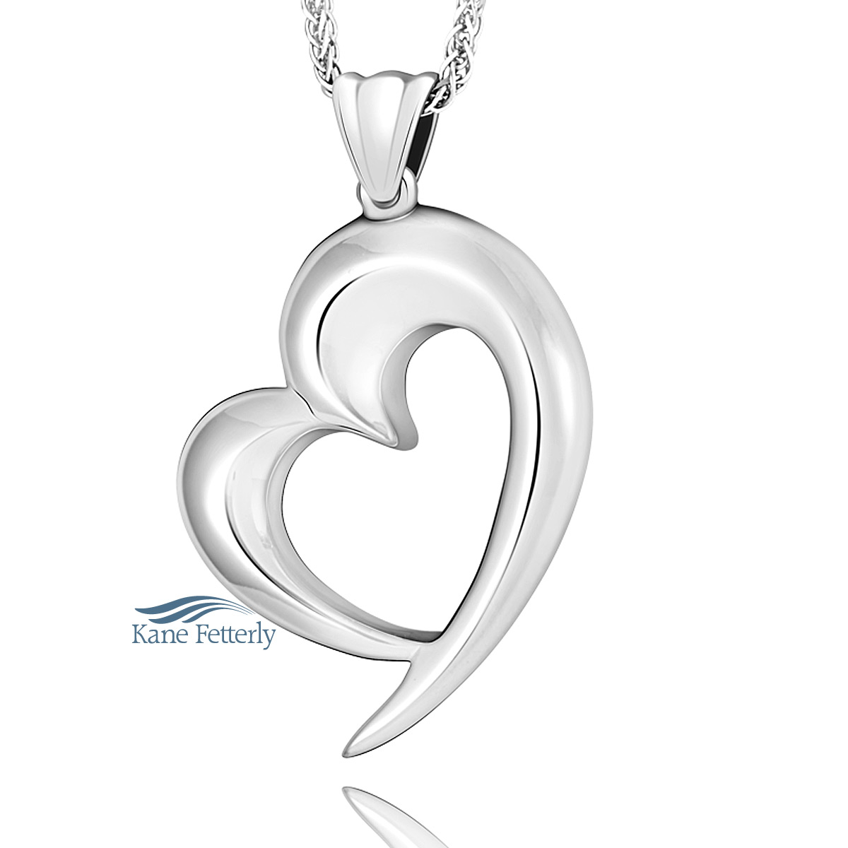 J0217 Heart pendant in sterling silver