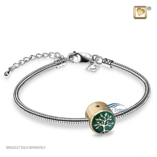 Tree of Life cremation pendant (shown with bracelet)