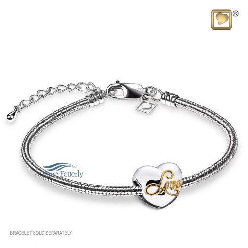 Bracelet with heart bead