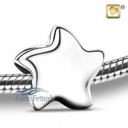 J0241 Star bead in sterling silver