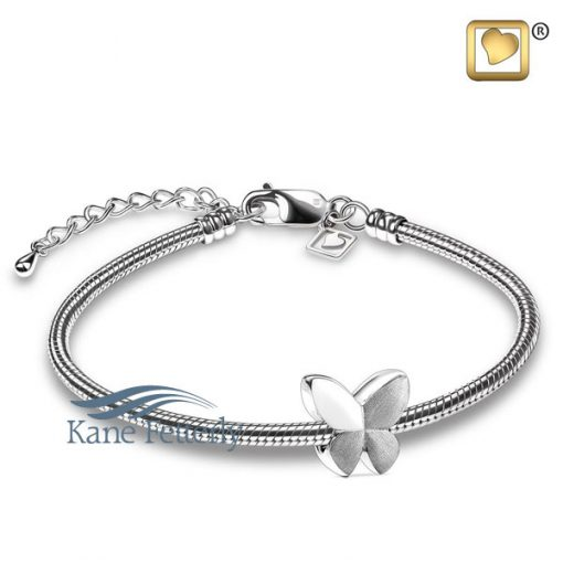 Butterfly charm in sterling silver (shown with bracelet)