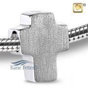 J0245 Cross bead in sterling silver