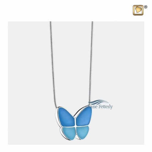 Blue butterfly pendant