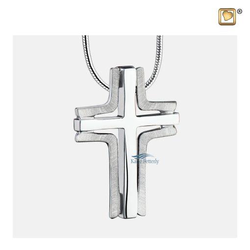 Cross pendant for ashes