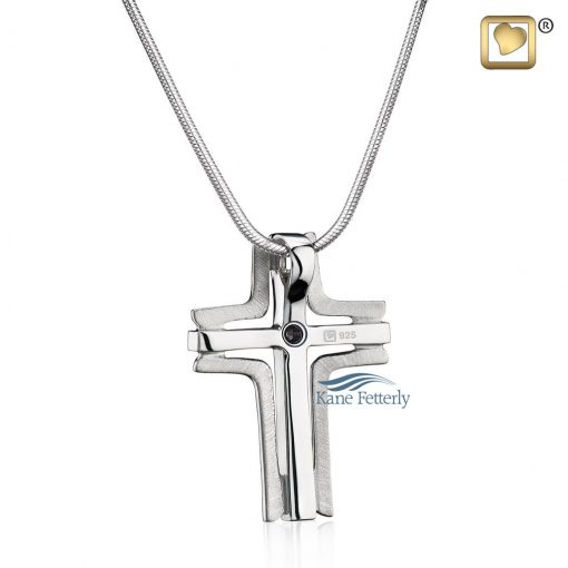 Cross pendant for ashes