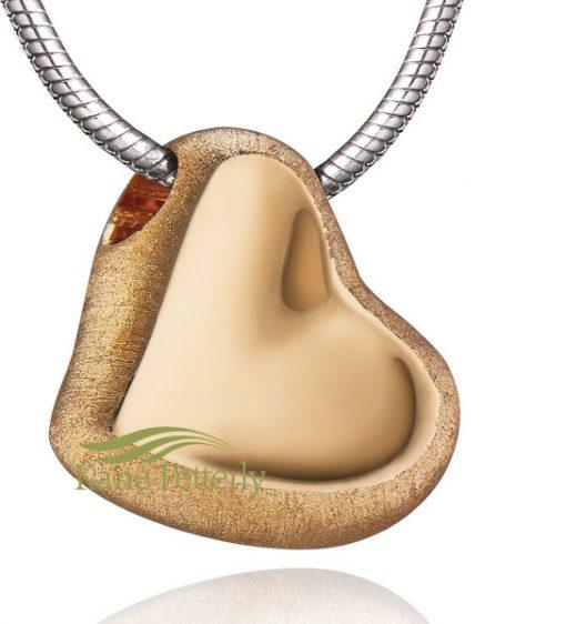 J0283 Gold vermeil heart pendant (two-tone finish)