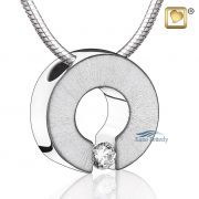 Omega pendant with crystal
