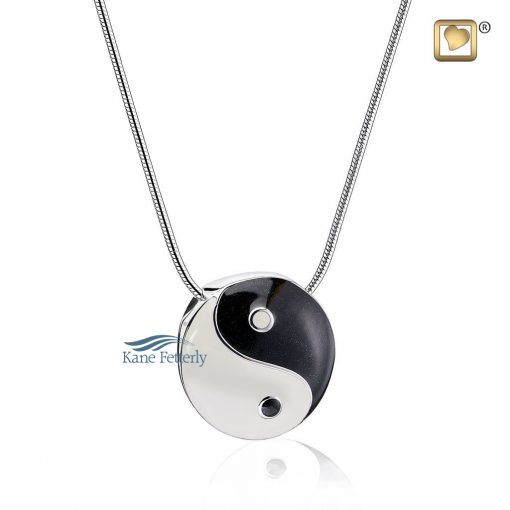 Yin & Yang cremation pendant
