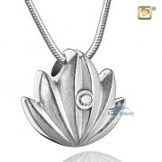 Lotus cremation pendant