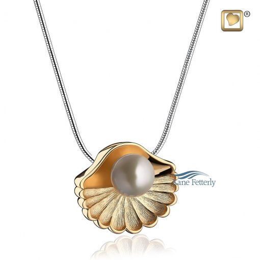 Sea shell pearl cremation pendant