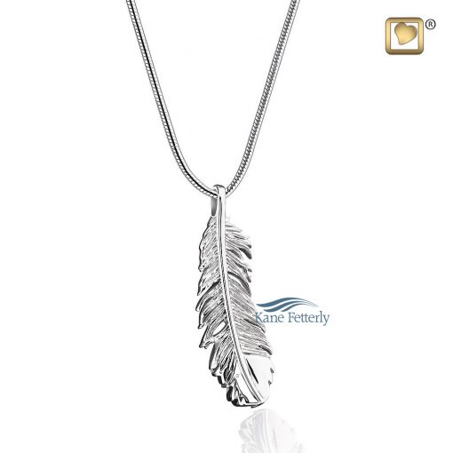 Feather pendant for ashes