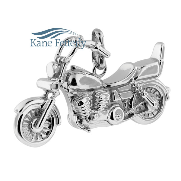 J0404 Motorcycle pendant in sterling silver