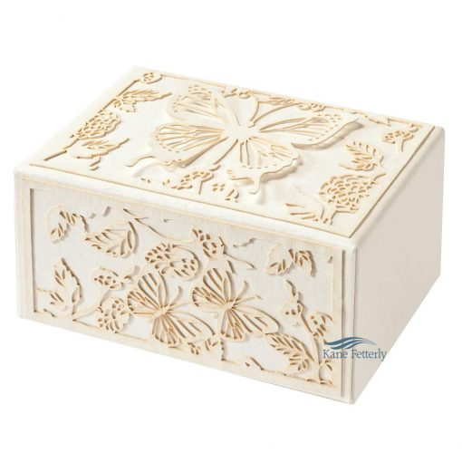 Biodegradable urn with butterflies