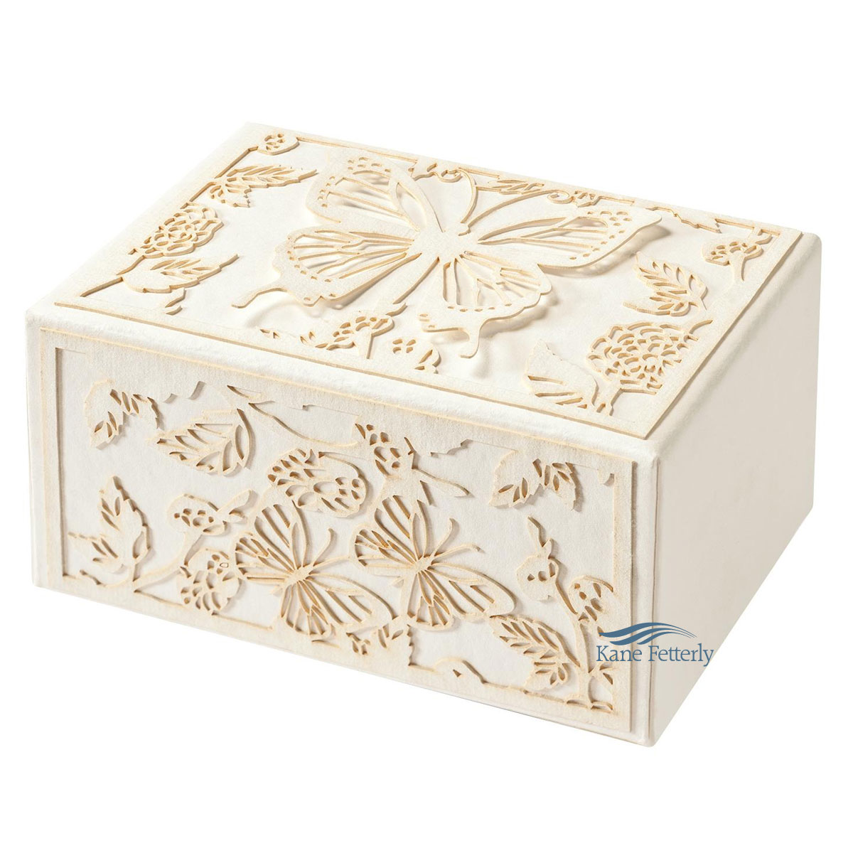 U1516 Biodegradable urn with butterflies