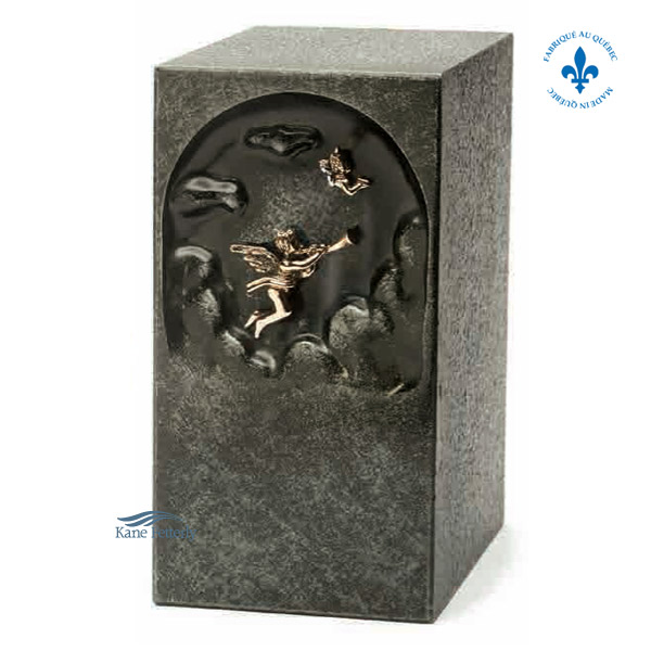 U2663 Zinc urn with angel