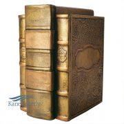 Urne en bronze aggloméré en forme de trois livres