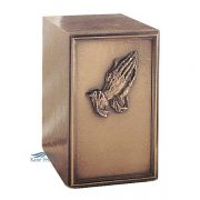 U2P02 Cold cast bronze urn with hands