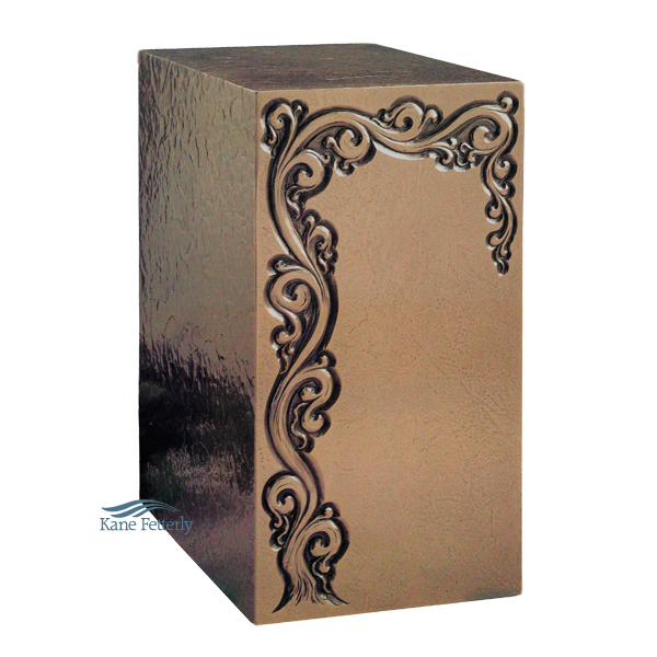 U2P05 Cold cast bronze urn