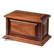 Maple companion urn. Double wood urn