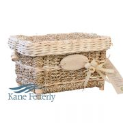 U4203 Wicker and sea grass urn