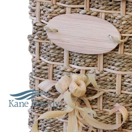 U4204 Wicker and sea grass urn